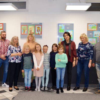Otwarcie wystawy grupy malarskiej dzieci z Domu Kultury Niepołomice