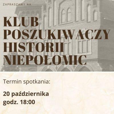 Klub Poszukiwaczy Historii Niepołomic